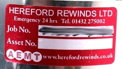 Many companies have asset labels on their property to aid in return should they become lost.