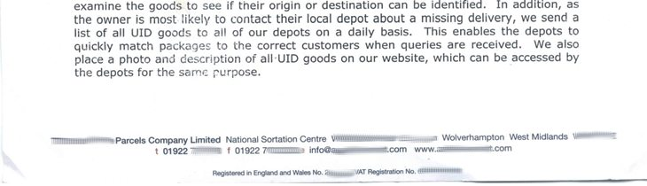 They send a list of UID goods to their member depots on a daily basis.